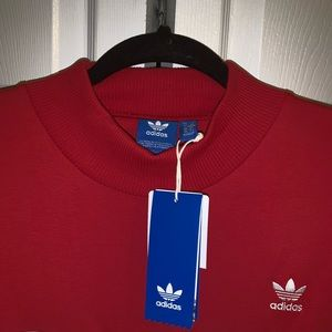 adidas Sweaters - Adidas bold age red mock neck crop sweater